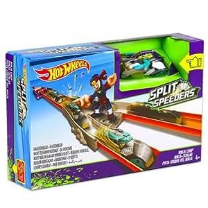 Hot Wheels Action Track Set Split Speeders Ninja Chop