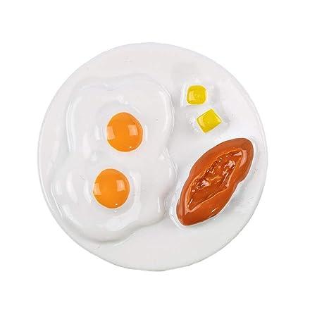 BESTonZON Imán para Nevera de Resina diseño de Huevos de Desayuno ...