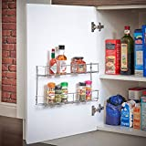 VonShef 2 Tier Spice Rack Chrome Plated (Easy Fix) For Herbs and Spices Suitable for Wall Mount or Inside Cupboard