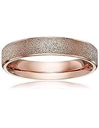 LOVE Beauties 4mm Women's Titanium Rose Gold Wedding Band Ring