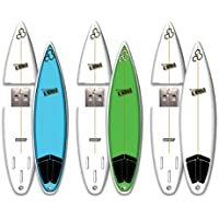 Channel Island 3 Pack 16GB SurfDrive USB Flash Drive - White, Blue, Green