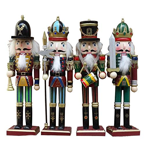 Handmade Nutcracker Wooden - singa-z Wooden Nutcracker Decoration, Christmas Ornament for Festive Holiday Decor Handmade Soldier Puppets Classic Hand Painting Doll