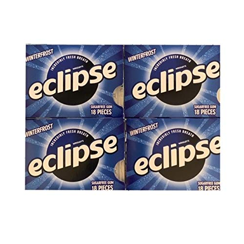 Eclipse Winterfrost Gum | Eclipse Sugarfree Gum Winterfrost Flavor | Incredibly Fresh Breath | 18 Piece Packs | Pack of 4 ()