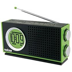 Realtone RT212Q AM/FM Portable Dual Alarm Clock Radio (Green)