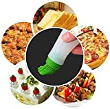Huyenkute Portable Flapjack Barbecue Oil Brushes Silicone Baking Kitchen Oil Brush High Temperature