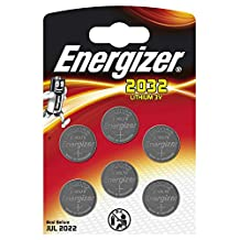 6Pk Energizer CR2032 Coin Battery Batteries Lithium 3V for Watches Torches Keys