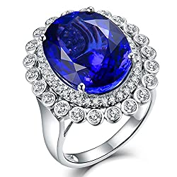 Dazzlingly Beautiful Blue Tanzanite Diamond Ring