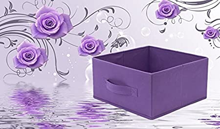 6 PCs New Home Storage Bins Organizer Fabric Boxes Shelf Basket Drawer Container Black