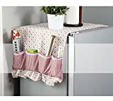 Dust Proof Cover - 1 Piece Practical Fridge Lattice Refrigerator Dust Proof Cover Muti-Functional Pouch Organizer Duster Cloth Kitchen Storage Holder