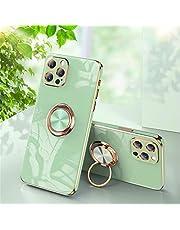 Hadwii iPhone SE 2020 hoes, iPhone 8 7 telefoonhoes silicone met 360 graden ringstandaard, glanzend, zachte slim case, bumper, stootvaste beschermhoes, magnetische cover voor iPhone SE 2020