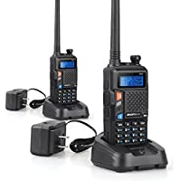 2 Set of BAOFENG UV-5X Two-Way Radio with FM Function VHF 136-174MHz UHF 400-520MHz Dual Band Dual Watch Transceiver 128 Channels