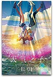 Póster de anime de la película Weathering with You (Tenki No Ko) Decora el salón dormitorio 45 x 67,5 cm