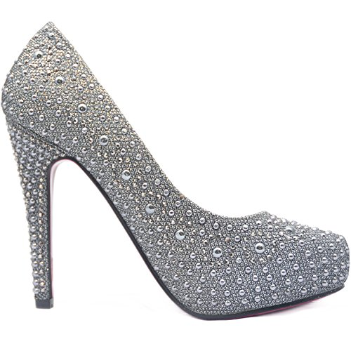 ROSELIGHT High Heels Pumps mit Rosa Sohle Chrome