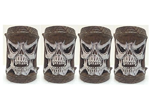 Homestyles Friki Tiki #11302 4 Piece Set of Scary Skull Flashing Multi-Color Glowing Table Top or Path Lighting]()