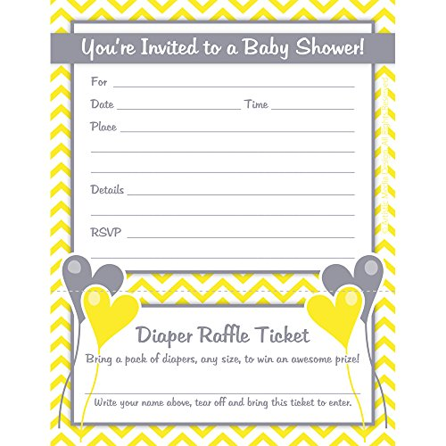 yellow baby shower invitations - 6