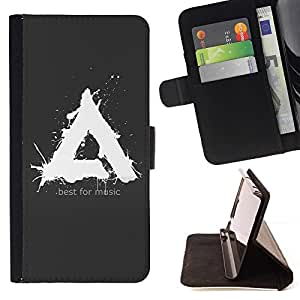 DEVIL CASE - FOR HTC One M7 - Alpha Best For Music - Style PU Leather Case Wallet Flip Stand Flap Closure Cover