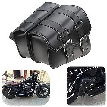 2pcs Moto de cuero de la motocicleta Bolsas laterales Moto ...