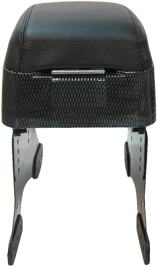 Carbon-Armlehne Mittelkonsole schwarz Kunstleder Universal Auto Van gepolstert