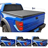 Tyger Auto T1 Roll Up Truck Bed Tonneau Cover TG-BC1C9012 works with 2015-2018 Chevy Colorado / GMC Canyon | Fleetside 5' Bed