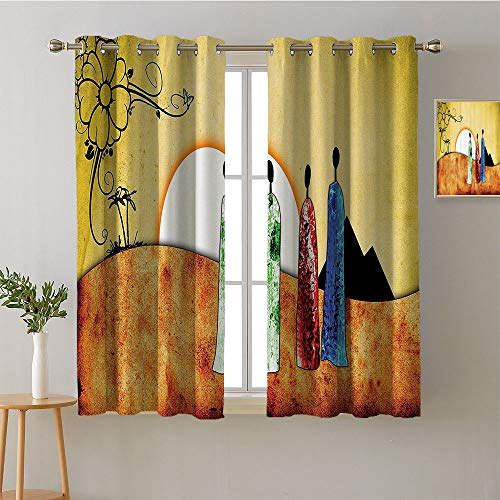 (Suchashome Curtain for Bedroom Grommets Sliding Darkening Curtains Party Darkening Curtains Noise Isolation Darkening Curtains Curtains/Panels/Drapes(1 Pair, 27.5