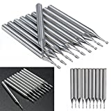 10pcs 2 Flutes End Mill Milling Cutter 1mm Carbide Flat Nose End Mills Router Bit Set for Woodworking Tool