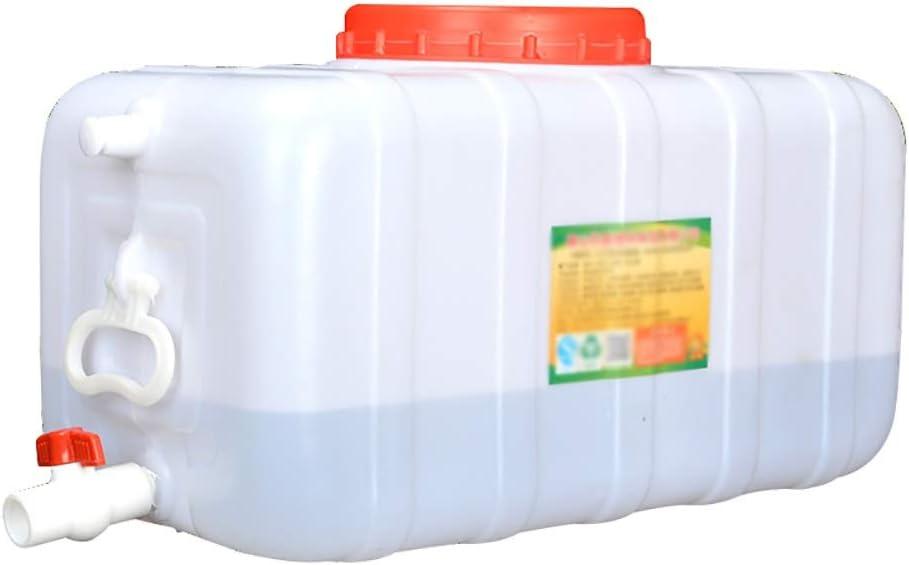 蛇口付き200L水タンク、蓋付きの厚いプラスチック製の長方形の水貯蔵容器、屋外キャンプ、家庭用給水、雨水収集バケット *
