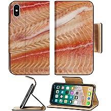 MSD Premium Apple iPhone X Flip Pu Leather Wallet Case IMAGE ID 20749023 Pangasius fillets of raw fish macro shot