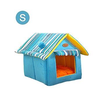 Augproveshak - Caseta para Perros y Gatos (tamaño Mediano, de Ante cálido, extraíble, Lavable, para 4 Estaciones): Amazon.es: Productos para mascotas