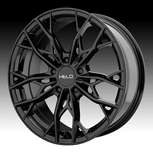 HELO HE907 Gloss Black Wheel Chromium (hexavalent compounds) (17 x 7. inches /5 x 72 mm, 38 mm Offset) ()
