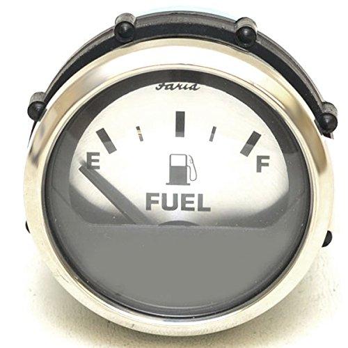 Series Fuel Gauge (FARIA Spun Silver Series Fuel Level Gauge)