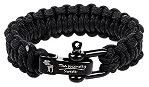 The Friendly Swede Paracord Survival-Armband mit Edelstahlverschluss -...