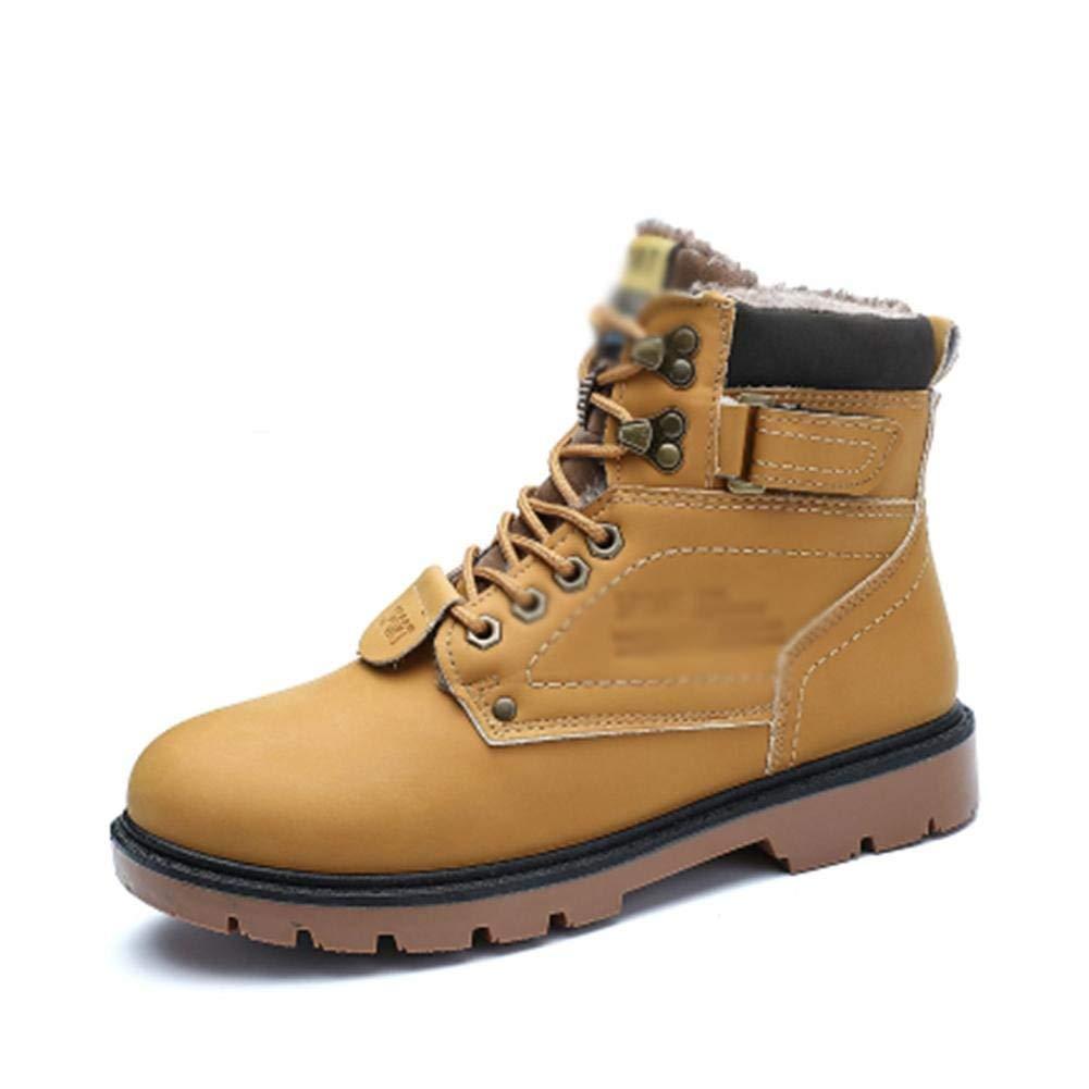 FuweiEncore Herrenmode Flache Stiefel Casual Desert Stiefel Winter Baumwollfutter wasserdicht, 39 (Farbe   -, Größe   -)