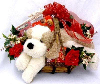 Gift Basket Village Puppy Love A Romantic Gift Basket, Deluxe by Gift Basket Village