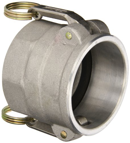 PT Coupling 6039150015DFH Aluminum Cam and Groove Hose Fitting, Coupler with EPDM NH Thread Gasket and Buna N Cam Gasket, Stainless Steel 300(HBS) Cam Arms, 1-1/2