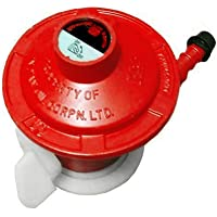 Indane XPRESS Cast Iron LP Gas Cylinder Adapter Suitable for Indane/Bharat/HP Gas Cylinders (Red)