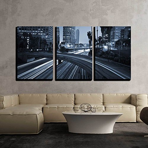 Traffic Through Downtown Los Angeles x3 Panels