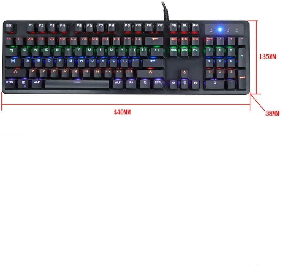 DFYYQ Wired Mechanical Keyboard Green Axis Glow Gaming Keyboard Game Keyboard USB Full Key