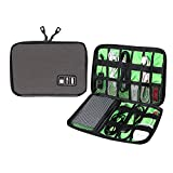 Universal Cable Organizer - Electronics Accessories Case USB Drive Shuttle-an All in One Travel Organizer - (Grey)