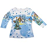 Sequined Winter Flurry Scene Top