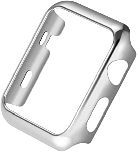 Apple Watch Series 3 Case,Mangix Super Thin PC Plated Plating Protective Bumper Case for for for Apple Watch Series 3/Edition/Nike+ (42mm Silver)