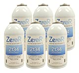 ZeroR Z134 Refrigerant - R134a Replacement - 6 Cans - Made in USA - Natural Non Ozone Depleting