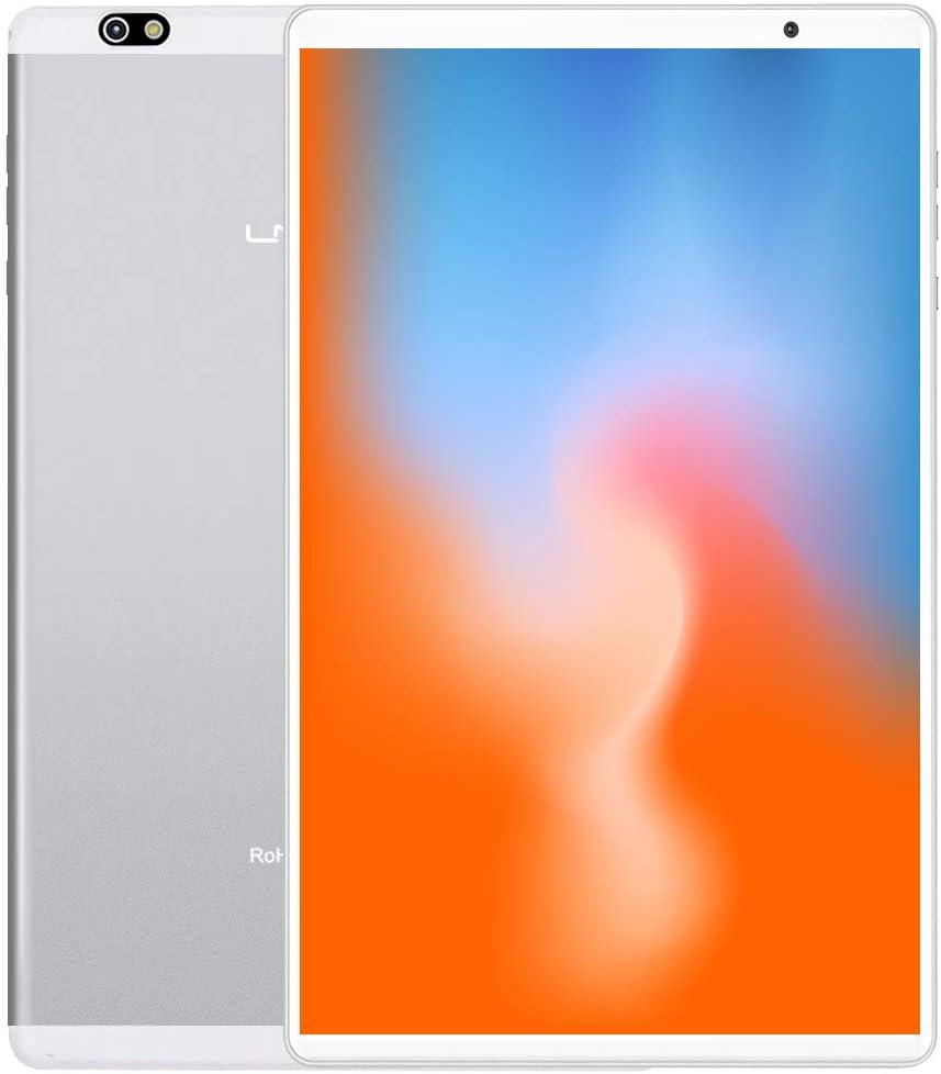 LNMBBS P40-EEA Tablet 10 Pulgadas , Android 10.0, Octa-Core, Desbloqueo Facial, 1920*1200 IPS, 64GB ROM y 4GB de RAM, 13MP y 5MP Cámara, Wi-Fi + LTE, GPS, Bluetooth 5.0, Silver