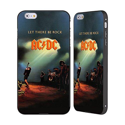 Officiel AC/DC ACDC Laissez Là Être Rock Couverture D'album Noir Étui Coque Aluminium Bumper Slider pour Apple iPhone 6 Plus / 6s Plus