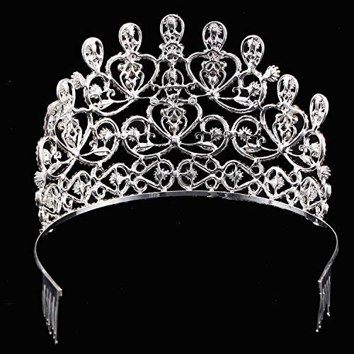 Wedding Crown, Beautiful headdress/Top Ornaments Bridal Crown Hair Ornaments Wedding Accessories Diamond Headwear Wedding Gowns And Accessories. by Junson (Image #5)