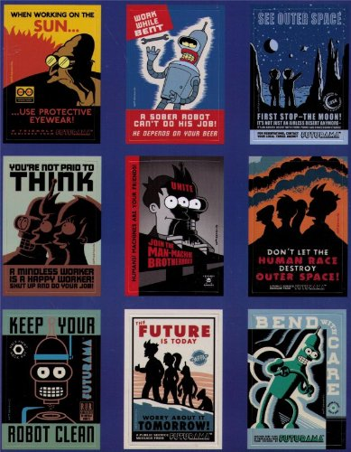 Click for larger image of Futurama Magnet Collection Set FDM18