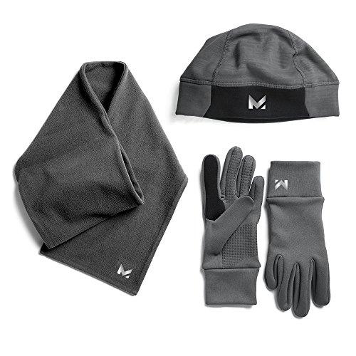 (Mission Men's Radiantactive Performance Beanie/Scarf/Glove Set, Carbon, Large/X-Large)