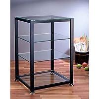 VTI EGR404 4 Shelf Black Audio Cabinet,Rack
