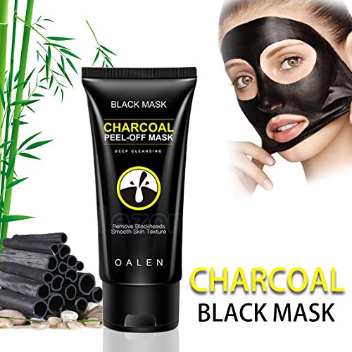 Charcoal Deep Clean Facial Mask Peel Off Black Face Mud Mask Oil-Control Blackhead Removing Black Masks,50 ml