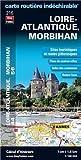 Loire-Atlantique (44), Morbihan (56) - Carte Routière Départementale Touristique D216 - Echelle : 1/180 000, avec index. Plan du centre-ville de Nantes, Saint-Nazaire et Vannes. de Blay-Foldex (8 mars 2012) Broché