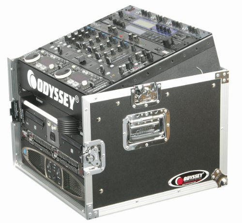 Odyssey FZ1006 Flight Zone Ata Combo Rack: 10u Slant, 6u Vertical